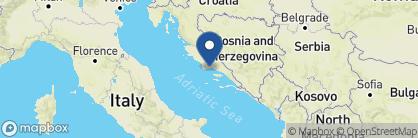 Map of Brown Beach House Croatia, Croatia