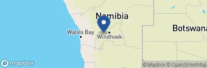 Map of Corona Guest Farm, Namibia