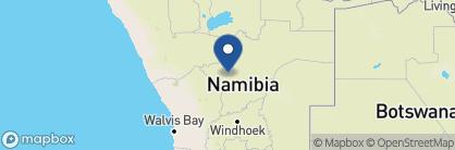Map of Okonjima Bush Suite, Namibia
