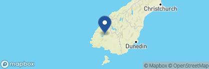 Map of Blue Ridge Studio Accommodation and B&B, New Zealand
