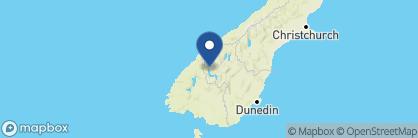Map of Blanket Bay, New Zealand