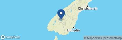 Map of Hidden Lodge, New Zealand