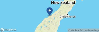 Map of Lake Moeraki Wilderness Lodge, New Zealand