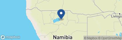 Map of Onguma Plains Camp, Namibia
