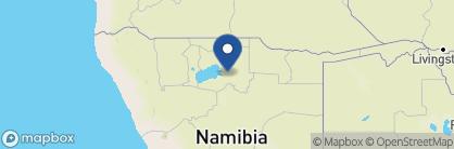 Map of Mushara Bush Camp, Namibia