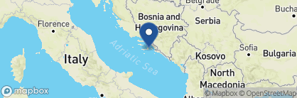 Map of Hotel Korcula De La Ville, Croatia