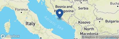 Map of Lešić Dimitri Palace, Croatia