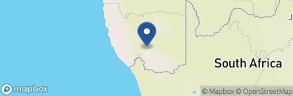 Map of Fish River Lodge, Namibia