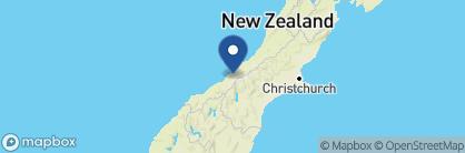 Map of Misty Peaks, New Zealand