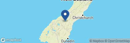 Map of Mount Cook Lakeside Retreat, New Zealand