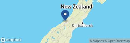 Map of Scenic Hotel Franz Josef Glacier, New Zealand