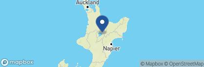Map of Wharewaka Lodge, New Zealand