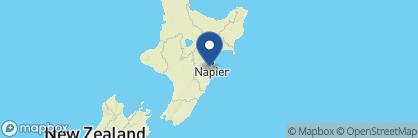 Map of Hawthorne House, New Zealand