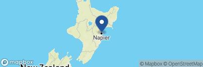 Map of Art Deco Masonic Hotel, New Zealand