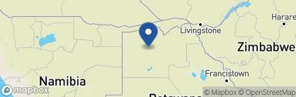 Map of Jacana Camp, Botswana