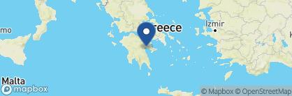Map of Nafplia Palace Villas, Greece