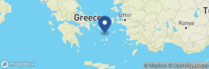 Map of Mykonos Grand Hotel & Resort, Greece