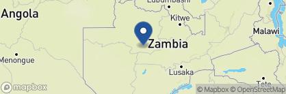 Map of Busanga Bush Camp, Zambia
