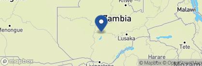 Map of Kaingu Safari Lodge, Zambia