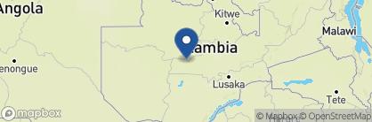 Map of Musekese Bush Camp, Zambia