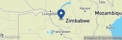 Map of Camelthorn Lodge, Zimbabwe