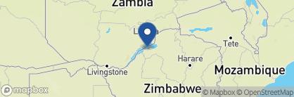 Map of Bumi Hills Safari Lodge, Zimbabwe