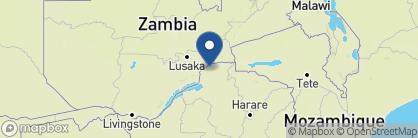 Map of Kanga Camp, Zimbabwe