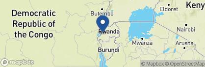 Map of Cormoran Lodge, Rwanda