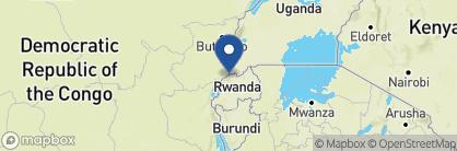Map of Sabyinyo Silverback Lodge, Rwanda