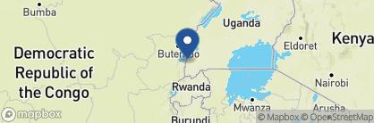 Map of Ishasha Wilderness Camp, Uganda