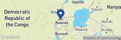 Map of Virunga Lodge, Rwanda