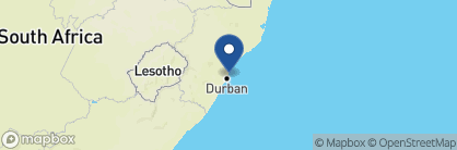 Map of The Oyster Box, South Africa