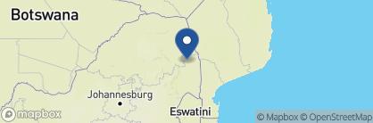 Map of Bateleur Safari Camp, South Africa