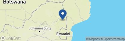 Map of Dulini Leadwood Lodge, South Africa