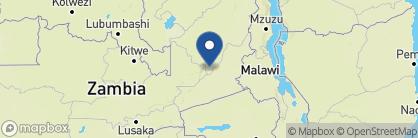 Map of Lion Camp, Zambia