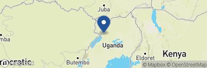 Map of Paraa Safari Lodge, Uganda