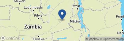 Map of Nkwali Camp, Zambia