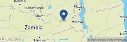 Map of Chinzombo Camp, Zambia