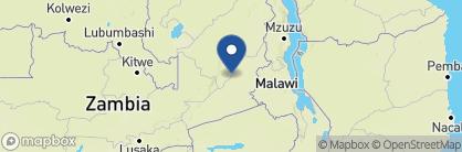 Map of Kaingo Camp, Zambia
