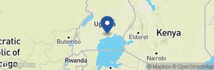 Map of Emin Pasha, Uganda