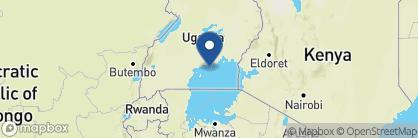 Map of Ngamba Island Tented Camp, Uganda