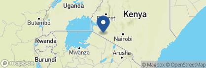 Map of Bateleur Camp, Kenya