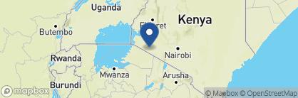Map of Governors' Camp, Kenya