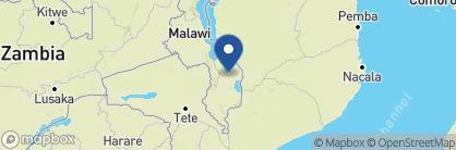 Map of Mvuu Wilderness Lodge, Malawi