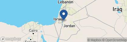 Map of Ma'In Hot Springs, Jordan