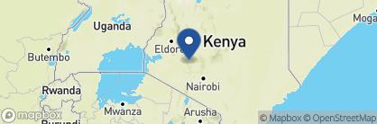 Map of Mbweha Cottages, Kenya