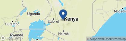 Map of Sosian Ranch House, Kenya