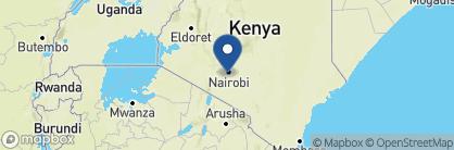 Map of Giraffe Manor, Kenya