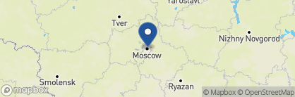 Map of Golden Eagle luxury train, Russia