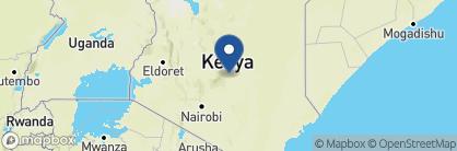 Map of Mara Bush Houses, Kenya